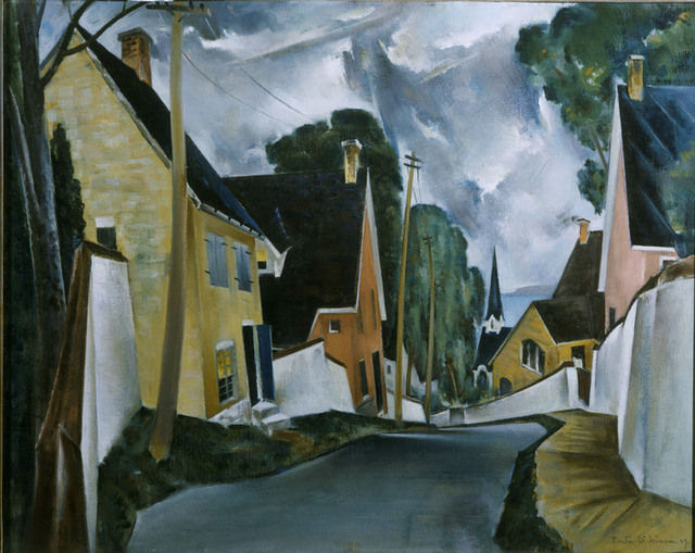 Preston_Dickinson Old Quarter Quebec 1927 - The Phillips Collection