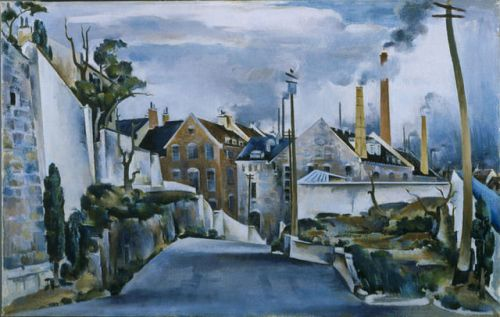 Preston_Dickinson - Street in Quebec- The Phillips Collection
