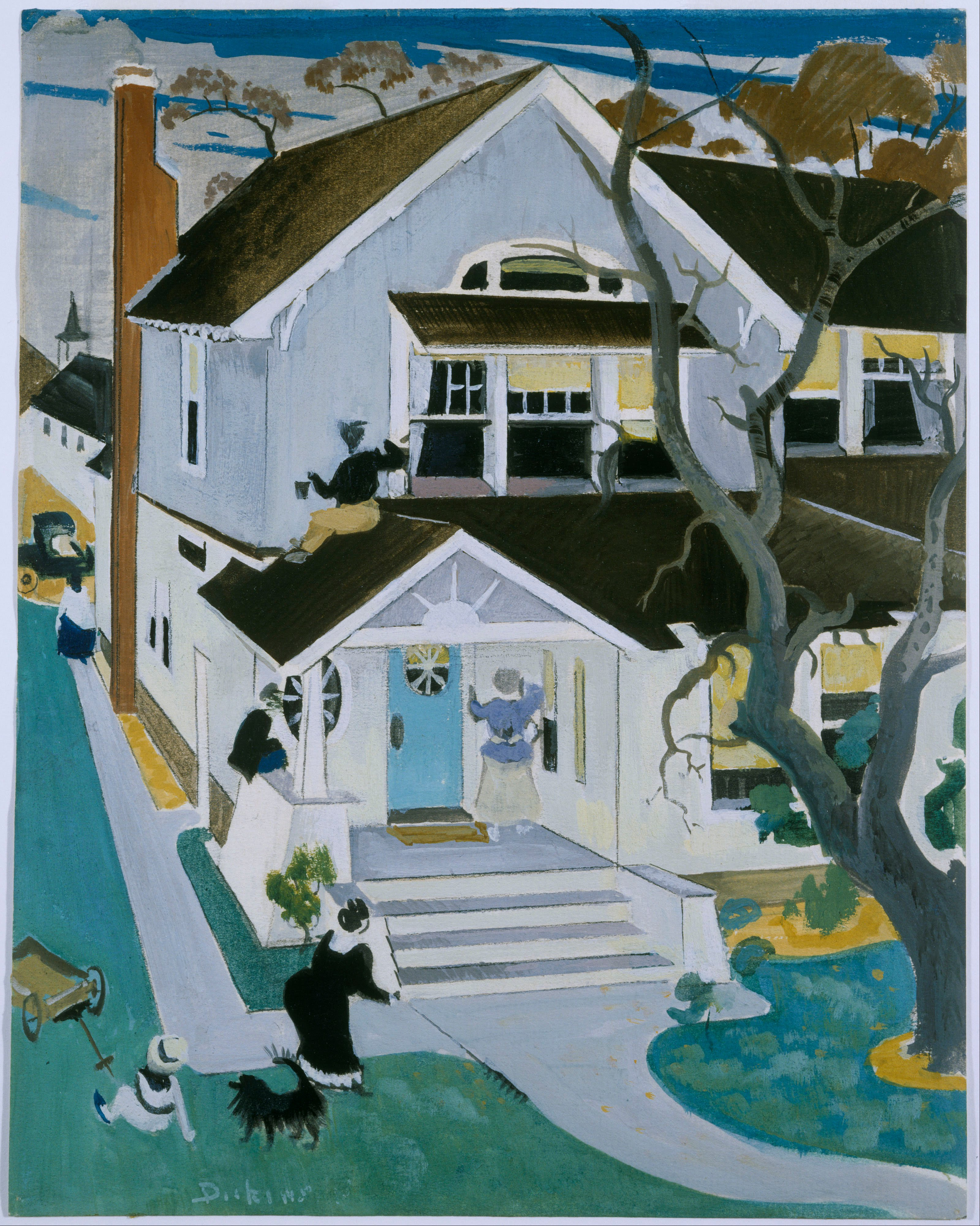 Preston_Dickinson_-_My_House_-_Google_Art_Project