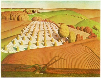 Grant Wood fall plowing