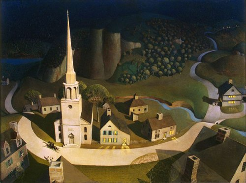 Grant Wood Midnight Ride of Paul Revere