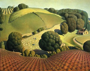 grant wood young corn