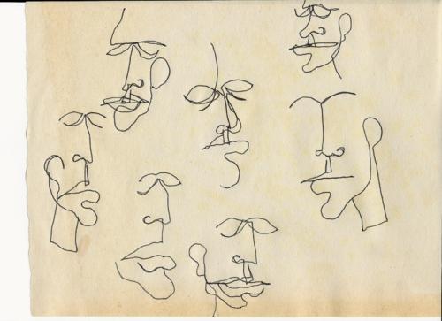 GC Myers- Blindfold Doodles