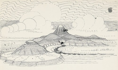 "JRR Tolkien Drawing for ""THe Hobbit"""