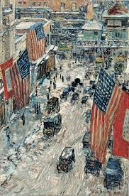 Childe Hassam Flag Painting