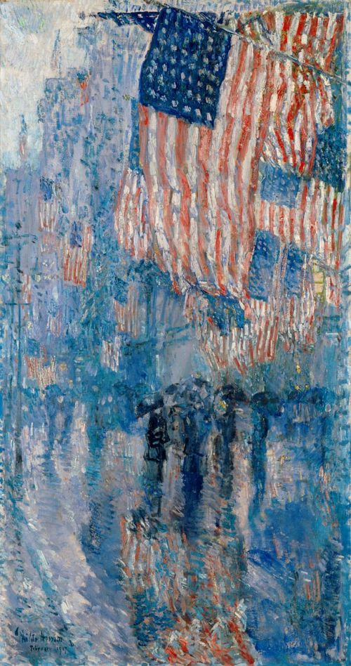 Childe Hassam The_Avenue_in_the_Rain- 1917