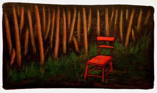 GC Myers- Little Red Riding Chair
