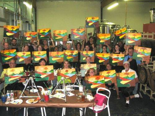 Art on Tap Class at Claremont Craft Ales