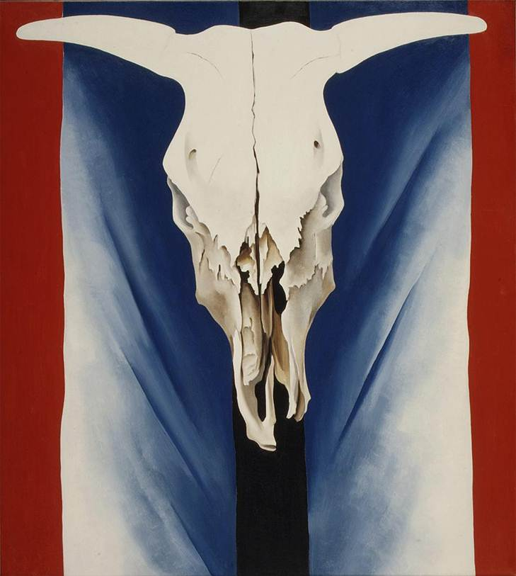 Georgia O'Keeffe-Cows Skull  Red  White and  Blue 1931