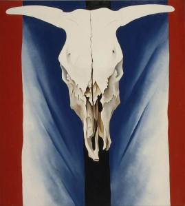Georgia O'Keeffe-Cow's Skull  Red, White and  Blue -1931