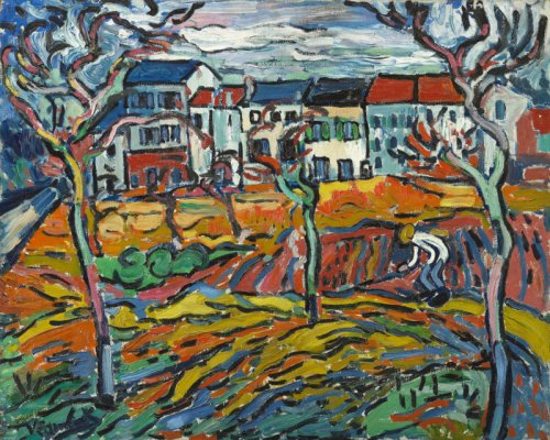 Maurice de Vlaminck- Houses at Chatou 1905