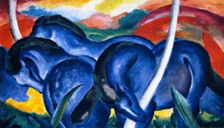 Franz Marc- Large Blue Horses