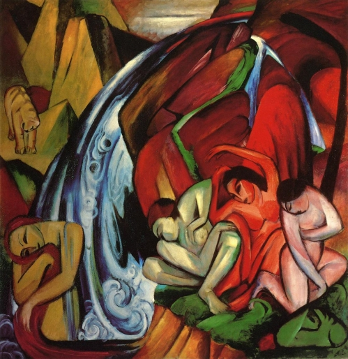 Franz Marc- The Waterfall 1912