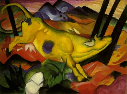 Franz Marc- The Yellow Cow 1911