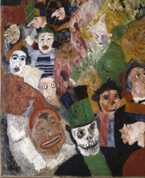 James Ensor Christs Entry Into Brussels in 1889 Detail