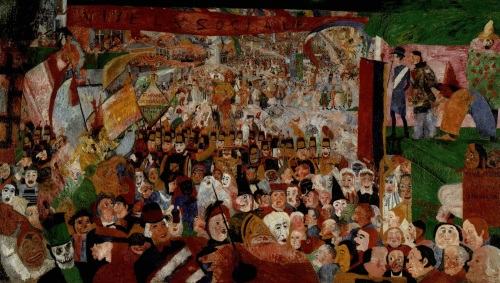 James Ensor Christs Entry Into Brussels in 1889