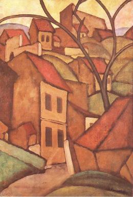 Sandor Galimberti- Tában Cityscape in Budapest (1910)