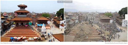 Maju Deval Temple, Kathmandu- Before and After  Earthquake