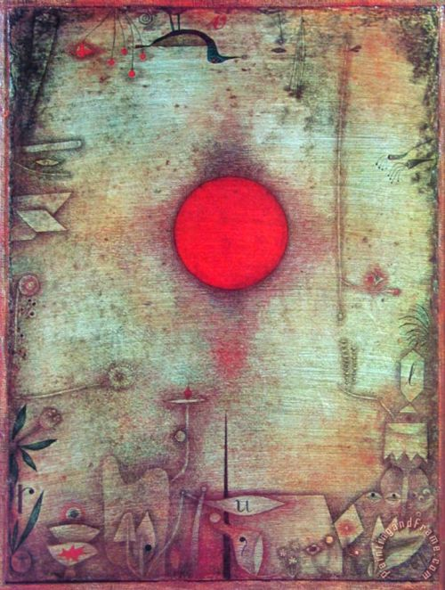 Ad Marginem C 1930 Painting by Paul Klee; Ad Marginem C 1930 Art Print for sale