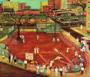 Ralph Fasanella- Sandlot Baseball