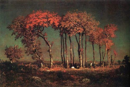 Theodore Rousseau- Under The Birches  1842