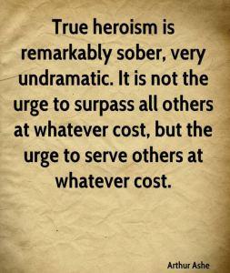 Arthur Ashe Heroism