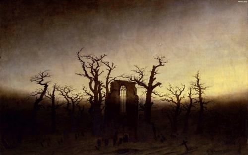 Caspar David Frederich- Abbey Among Oak Trees