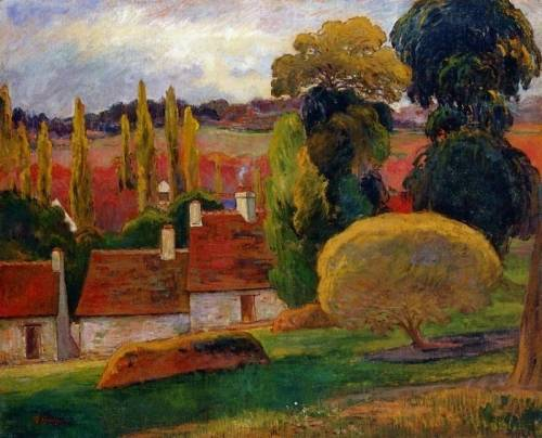 Paul Gauguin A Farm in Brittany