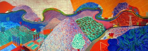 David Hockney- Mulholland Drive 1980