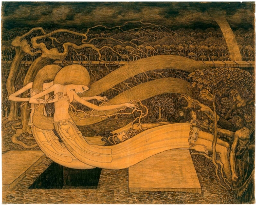 Jan Toorop Oh Grave Where is Thy Victory 1892