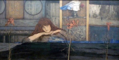 Fernand Khnopff I Lock the Door Upon Myself