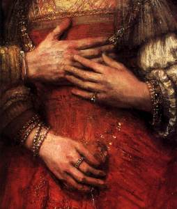 Rembrandt- The Jewish Bride (Detail)