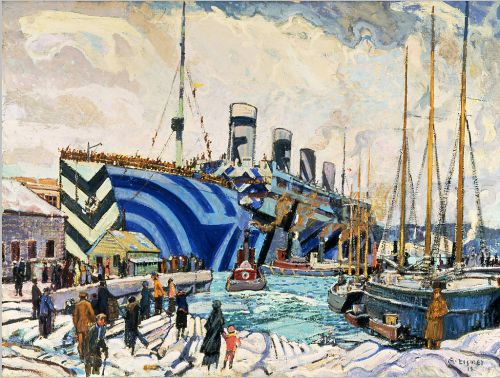 Arthur_Lismer-Olympic with Returned Soldiers
