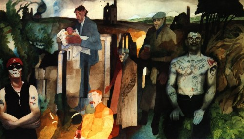 Edward Burra-Cornish Landscape With Tin Mines 1975