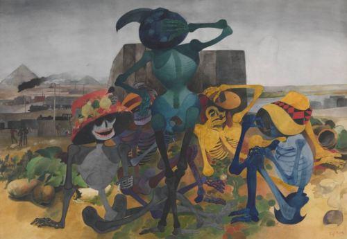 Edward Burra Skeleton Party 1952-4