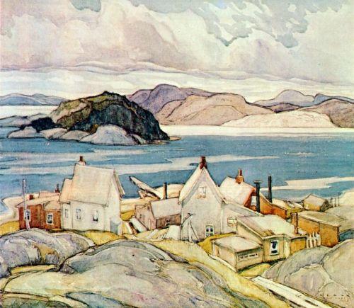 Franklin Carmichael -Jackknife Village-1926