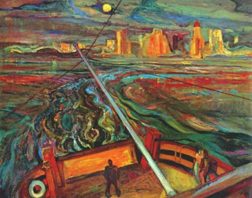 Frederick Varley - Night Ferry Vancouver -1937