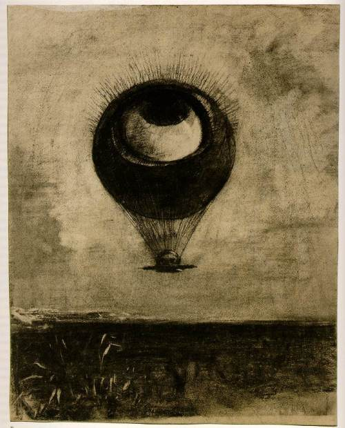 Odilon Redon - Eye  Balloon-1898
