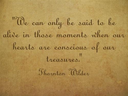 Thornton Wilder Gratitude Quote