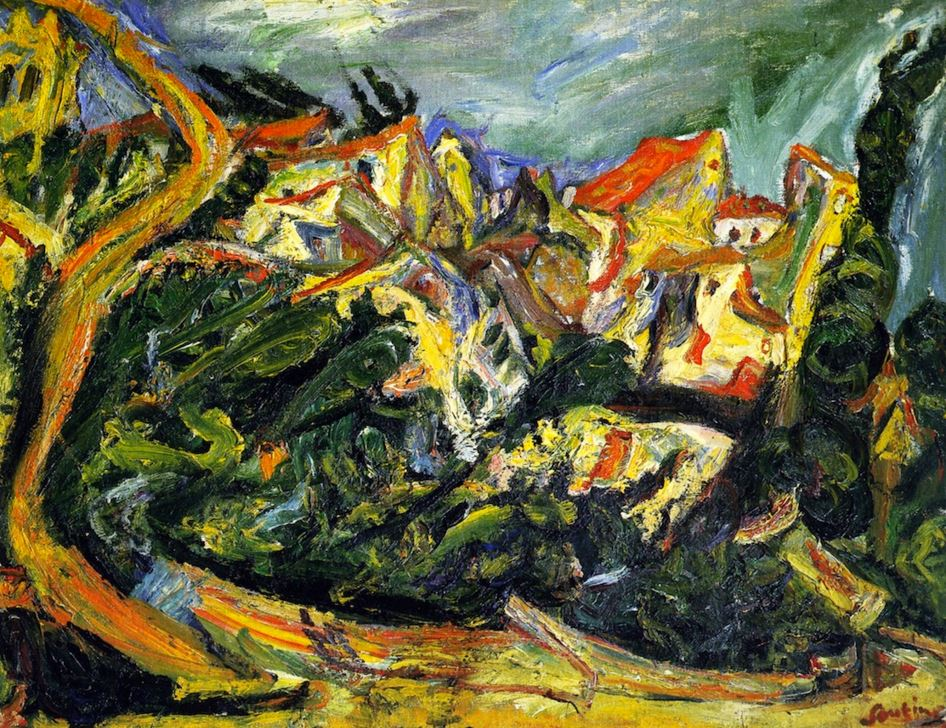 Chaim Soutine Landscape with Cypress