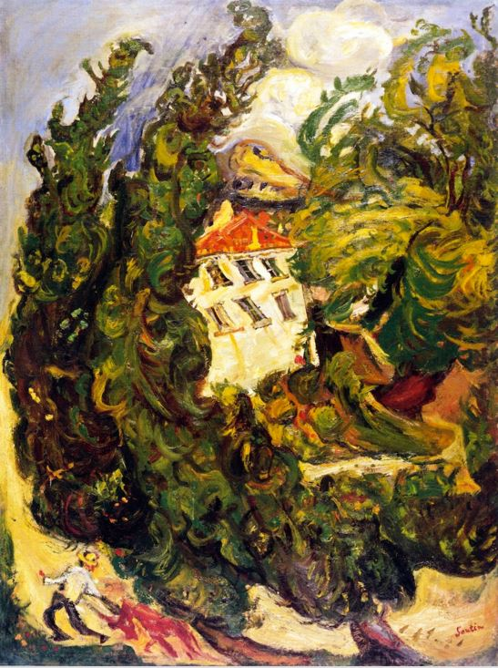 Chaim Soutine Landscape with Red Donkey