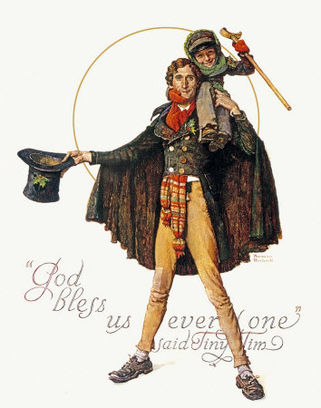 Norman Rockwell Tiny Tim