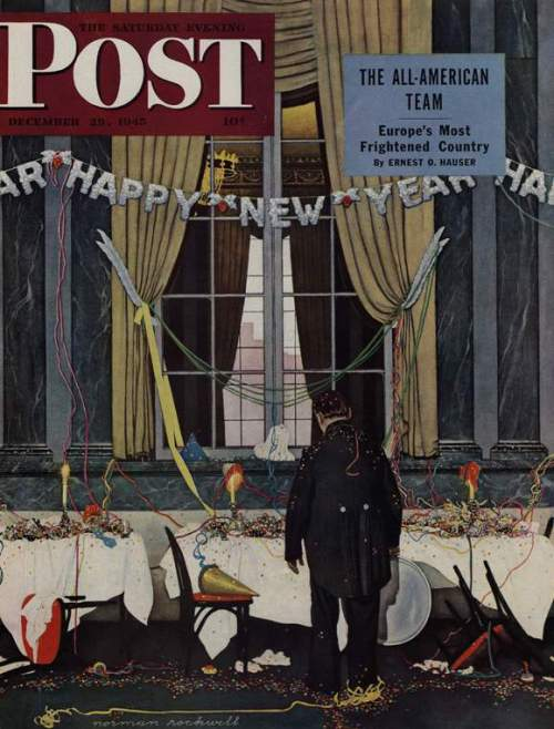NewYearsDay Norman Rockwell