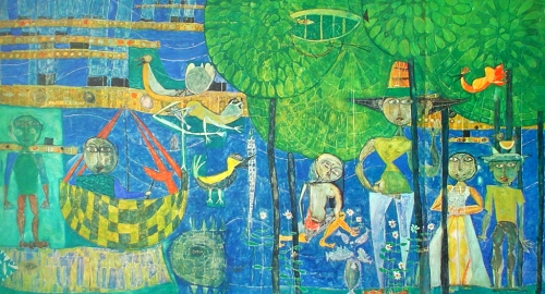 hundertwasser_land-of-men-birds-ships