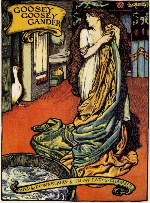John Liston Byam Shaw -Illustration for Old King Coles Book of Nursery Rhymes