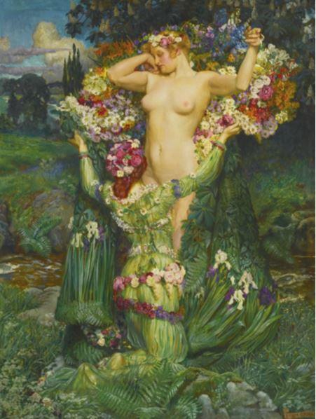 John Liston Byam Shaw  Rising Spring