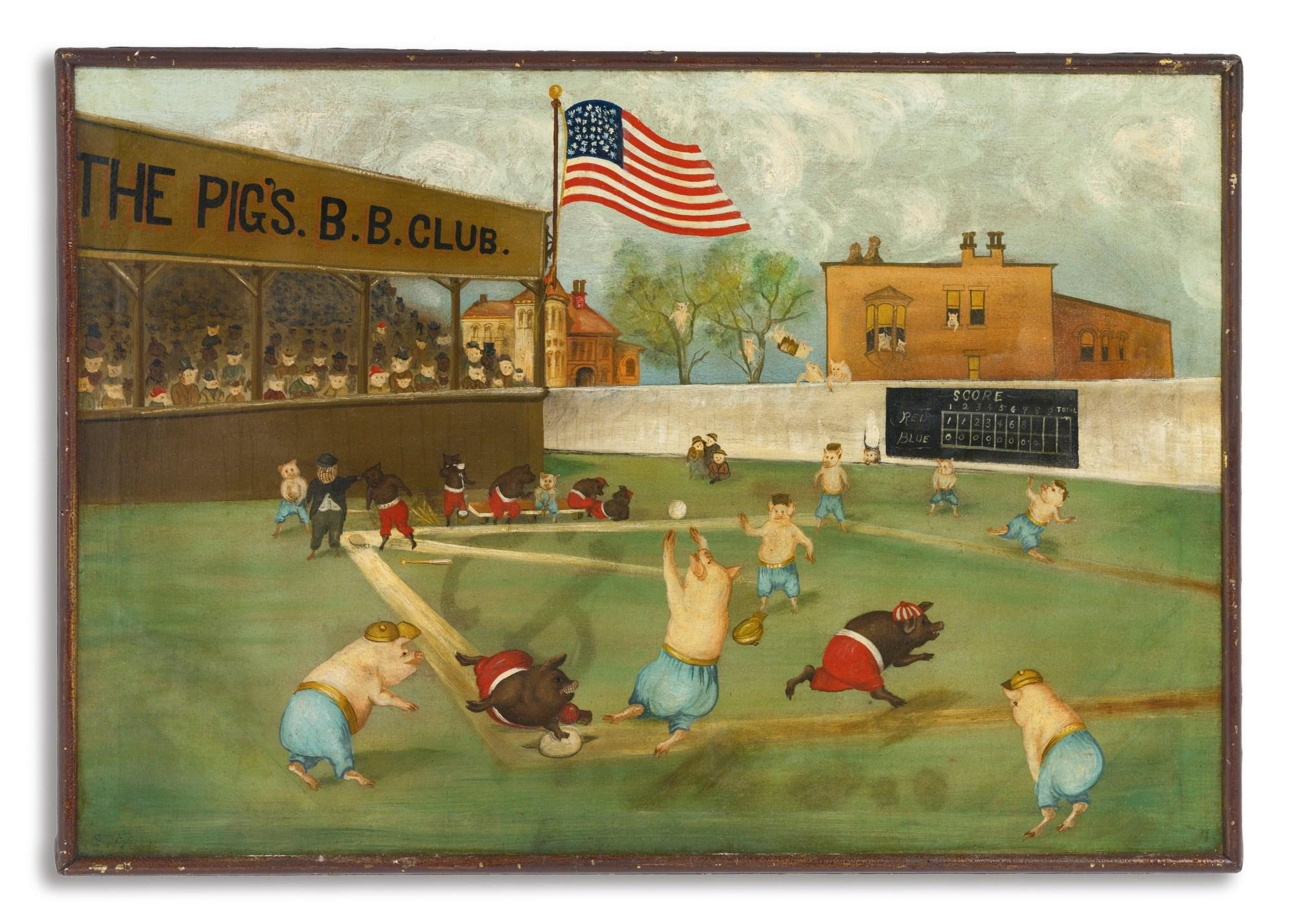 The Pigs Baseball Club Ca 1890 21 x 30