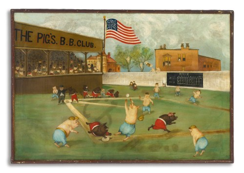 The Pigs Baseball Club Ca 1890 21 x 30