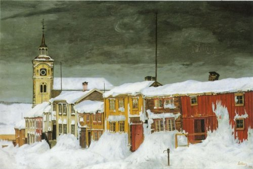 Harald Sohlberg- After The Snowstorm