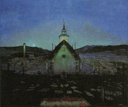 Harald Sohlberg-Night 1904